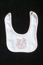 Baby clothes GIRL premature/tiny<7.5lbs/3.4kg tiny pink bear/rabbit feeding bib