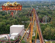 Ohio - Kings Island - Diamondback Roller Coaster - Flexible Fridge Magnet