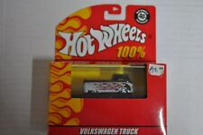 Hot Wheels VW Truck Flamed Pickup with Surfboards Hotwheels 100% 1:64 (Blk/Slvr)