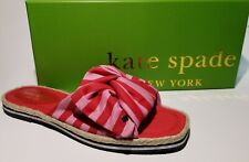 Kate Spade New York Caliana Stripe Slide Sandal Pink Red Size 6M  NIB