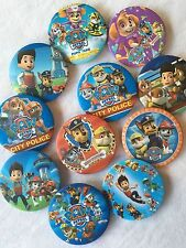 PAW PATROL BADGE BADGES x2 LOLLY LOOT BAG BOX SET PACK BIRTHDAY PARTY DECORATION