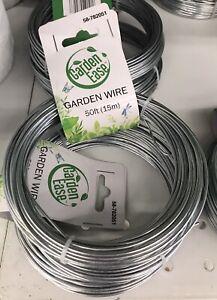 Galvanized Garden Wire - Fence Wire Tie 50 Feet Long 1.6mm Thick