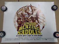 Blazing Saddles ORIGINAL 1974 VINTAGE HALF SHEET Movie Poster Signed Mel Brooks
