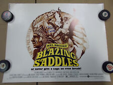 Blazing Saddles ORIGINAL 1974 VINTAGE HALF SHEET Movie Poster Signed Mel Brooks