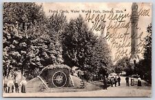 Floral Clock Water Works Park in Detroit, Michigan Undivided Back Postcard 1907