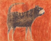 Mean Dog : Bill Traylor : c. 1930s : Archival Quality Art Print