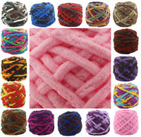 100G Chunky Crochet Double Knitting chenille Milk velvet Wool yarn 42 COLOUR