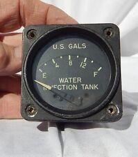 WW 2 USN Grumman F6F Hellcat Fighter Water Injection Tank Gauge Instrument