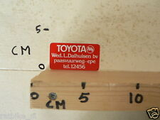 STICKER,DECAL TOYOTA WED. L.DALHUISEN BV EPE CAR AUTO