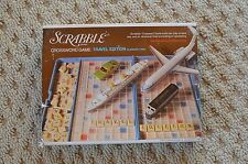 Vintage Travel Scrabble~Plastic Case~1977~Selchow Righter~word game~wooden tile
