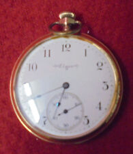 1890 Elgin 15 Jewel Pocket Watch With Porcelain Dial