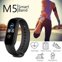 M5 Smart Watch Band Heart Rate Blood Pressure Monitor Tracker Fitness Wristband