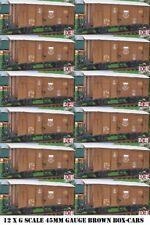 12 sí Doce G escala 45mm FERROCARRIL Caja Coche Marrón Cargo Vagón Garden TREN