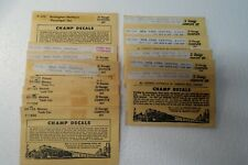 15 pc assortment  -  O Scale Champ Decals  Vintage NIP