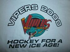 DETROIT VIPERS T SHIRT Hockey IHL vtg 90s Minors Gordie Howe Ice Age Defunct XL