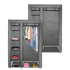 teprovo Faltschrank Garderobe Kleiderschrank 6 Böden 110 x 45 x 175 cm grau
