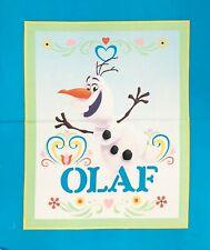 Disney Frozen OLAF Snowman Cotton Fabric Children's Cot Quilt Blanket Panel