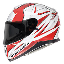 MT Thunder 3 Effect Motorcycle Helmet Red Motorbike Crash Lid Scooter DVS