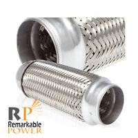 Remarkable Power RK7547 Exhaust Flex Pipe 2.5 x 10 Heavy Duty Stainless Steel 14OL