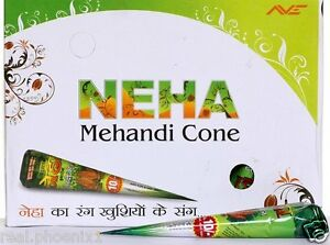 10 Neha Mehandi Cones Nautural Herbal Mehandi Temperory Cones Body Art Paint