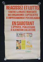 Affiche originale mai 68 RÉAGISSEZ ET LUTTEZ PUBLICITÉ 3 french poster 1968 079