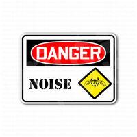 Danger High Noise Area Sign Sticker