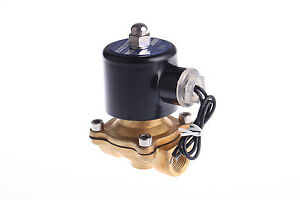 """2W160-15 AC110V NC 2 Way 1/2"""" Electric Solenoid Valve Fluid Air Water Oil Gas"""