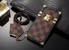 Luxury Metal Grid Plaid Leather Strap Case Cover For Samsung Note10 S20/10/9/8