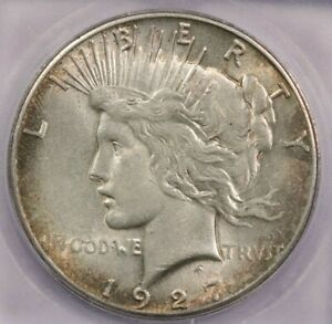 1927-P 1927 Peace Silver Dollar ICG MS61