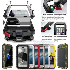 Waterproof Shockproof Metal Hard Case Cover + Gorilla Glass For iPhone & Samsung