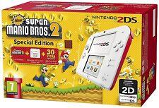 Nintendo 2DS Console, Bianco e Rosso + New Super Mario Bros 2 special limited ED