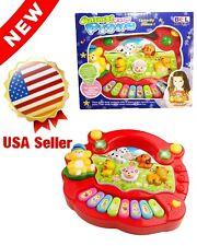 Mini Piano Baby Toys Music Animal Farm Piano Developmental Educational Kids Red