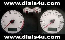 VOLKSWAGEN VW GOLF Mk4 (1999-2004) - 140mph (Petrol or Diesel) - WHITE DIAL KIT