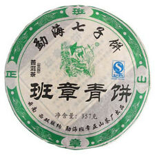 Meng Hai Ban Zhang Moutain Shen Pu-erh Tea Cake 357g/12.5oz Raw P113