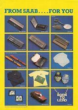 SAAB Merce Marca ACCESSORI primi anni ottanta, mercato del Regno Unito OPUSCOLO illustrativo