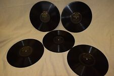 Lot 15:  Antique Victor 10-inch Black Label Double-sided Records phonograph 78s