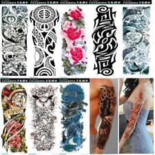 1/10 Pcs US man women Tattoo Sticker Waterproof Sleeve Temporary Arm Body Art