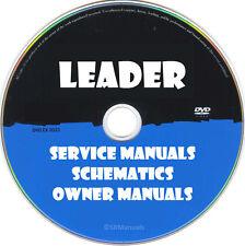 Leader Service Owner Manuals & Schematics- PDFs on DVD- Huge Set