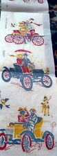 RARE VTG 1950s FULL COLOR Transfer Patterns OLD FASHIONED CARS