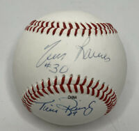 Tim Raines & Tim Raines Jr Signed Autograph Official 100 Years Baseball MLB HOF