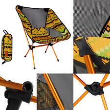 Outdoor Folding Aluminum Alloy Nylon Chair Moon Chair Fishing Camping BBQ Chair