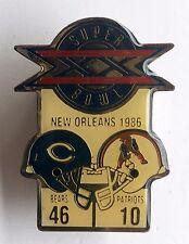 Vintage Chicago Bears Super Bowl XX Diet Coke Pin New England Patriots   L6D