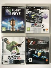 PS3 Games-Rugby World Cup+Tiger Woods PGA Tour+Gran Turismo 5+Formula One F1-783