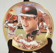"Bradford Exchange 8"" Collector Plate Cal Ripken Jr ""Baseball Record Breakers"""