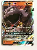 Onix GX ULTRA RARE 36/68 Pokemon Sun and Moon Hidden Fates Set TCG HOLO NM