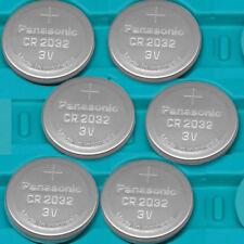 6 Pcs NEW PANASONIC CR2032 CR 2032 Batteries 3V Lithium battery