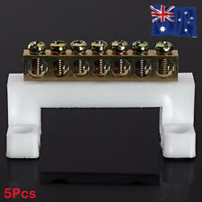 5Pcs-7 Positions Electric Cable Connector Screw Barrier Terminal Strip Block Bar