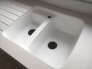 Karran Canterbury Acrylic Solid Surface Undermount 1.5 sink .Bonds to Corian