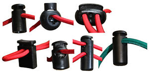 CORD LOCKS SPRING TOGGLES for 2-6mm elastic shock/bungee cord, single/twin hole