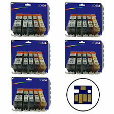 5 Sets of Compatible Printer Ink Cartridges for Canon Pixma iP4700 [520/521]